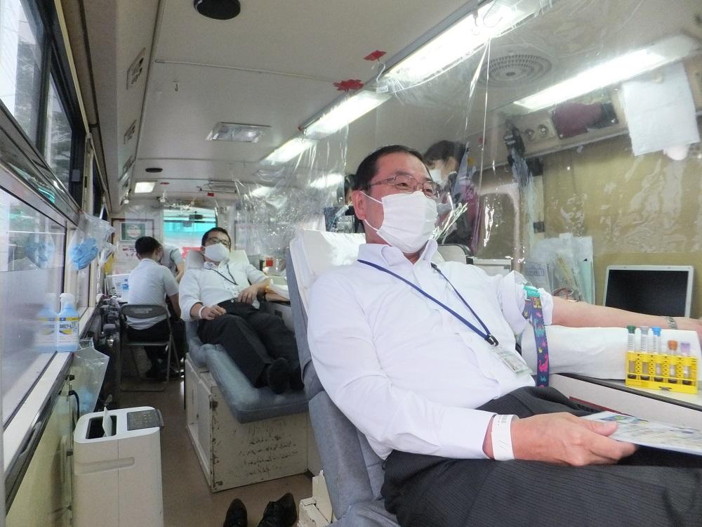 献血活動の様子